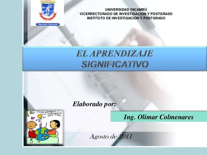 UNIVERSIDAD YACAMBÚ<br />VICERRECTORADO DE INVESTIGACIÓN Y POSTGRADO<br />INSTITUTO DE INVESTIGACIÓN Y POSTGRADO<br />EL A...