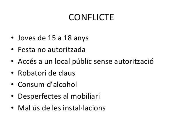 Aprenent d'un conflicte. Experiència del programa de prevenció i mediació comunitària a la Pobla de Segur Slide 2