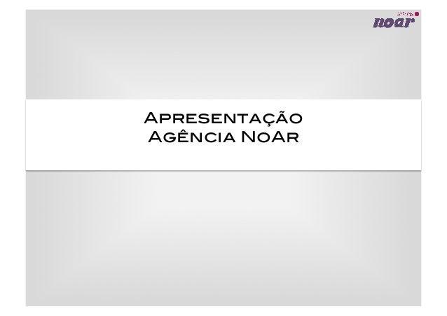 Apresentação! Agência NoAr!