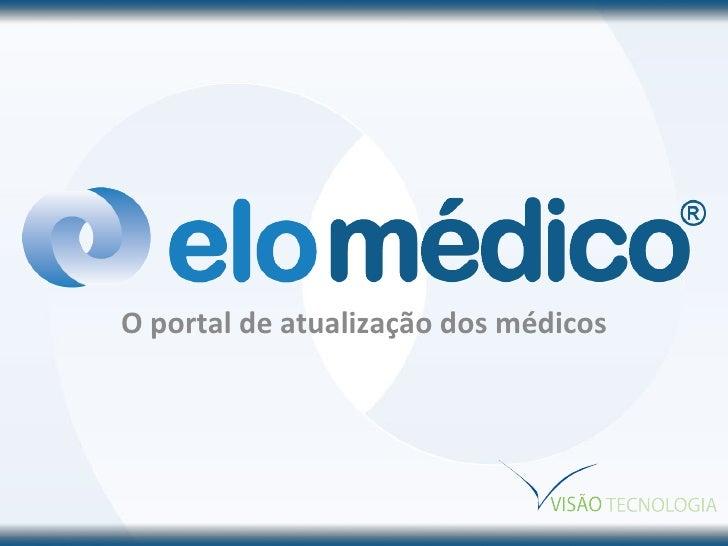 O portal de atualização dos médicos