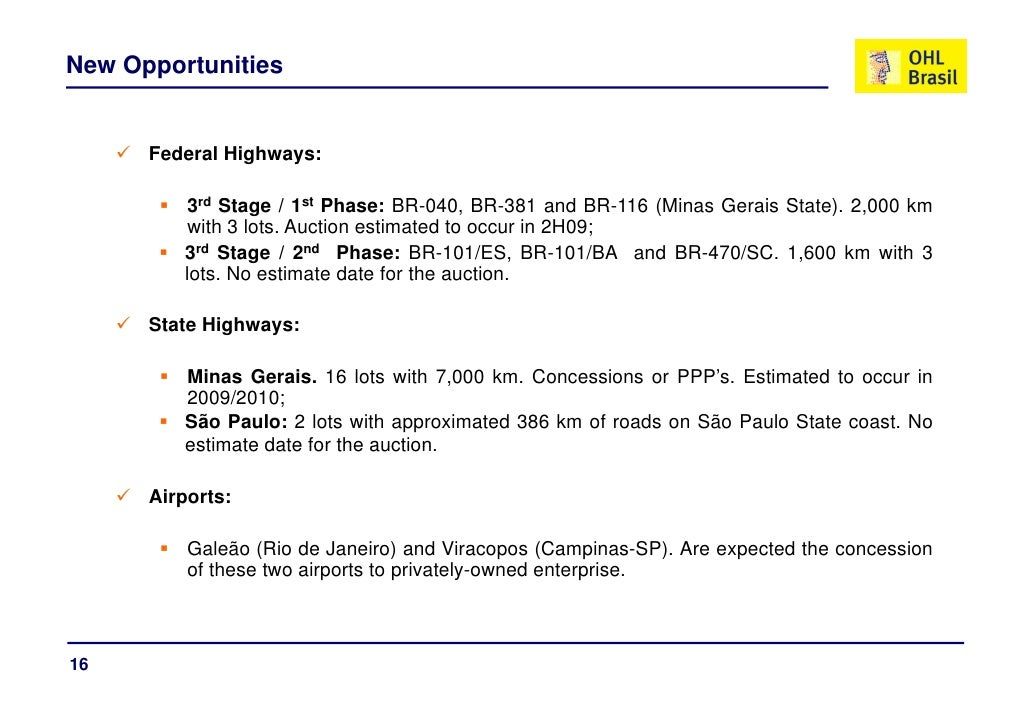 New Opportunities         Federal Highways:           3rd St             d Stage / 1st Ph                         t Phase:...