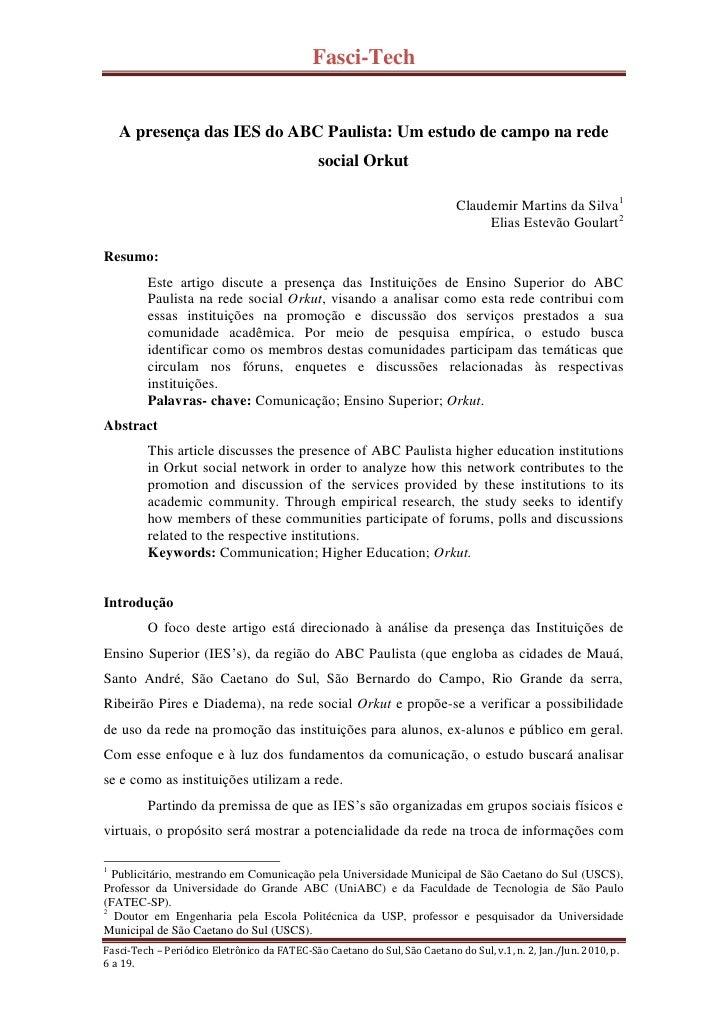 Fasci-Tech       A presença das IES do ABC Paulista: Um estudo de campo na rede                                           ...