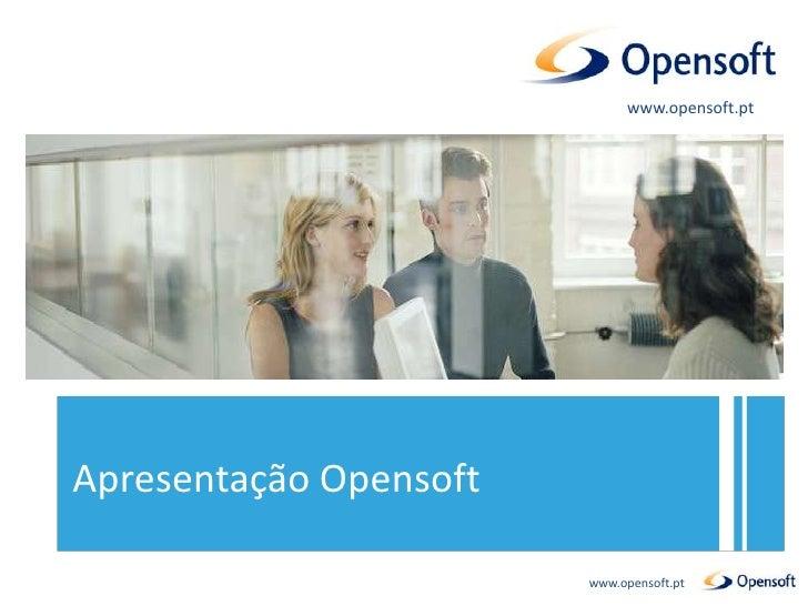 Apresent. institucional opensoft