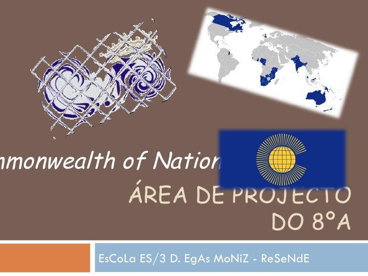 ÁREA DE PROJECTO DO 8ºA EsCoLa ES/3 D. EgAs MoNiZ - ReSeNdE  Commonwealth of Nations
