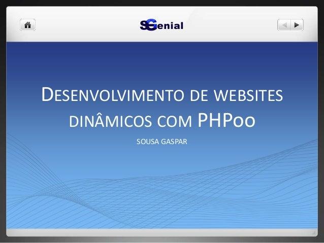 DESENVOLVIMENTO DE WEBSITES DINÂMICOS COM PHPoo SOUSA GASPAR