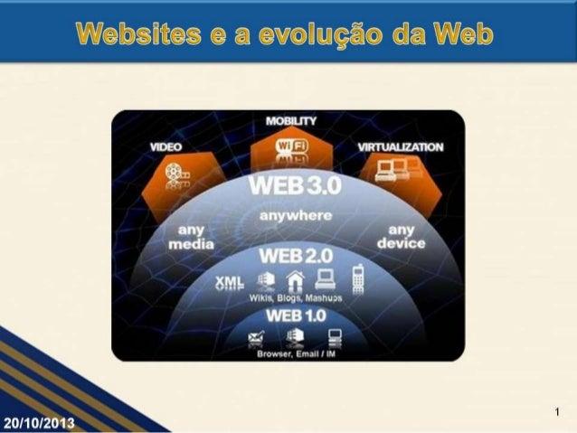 Websites e a evolução da Web