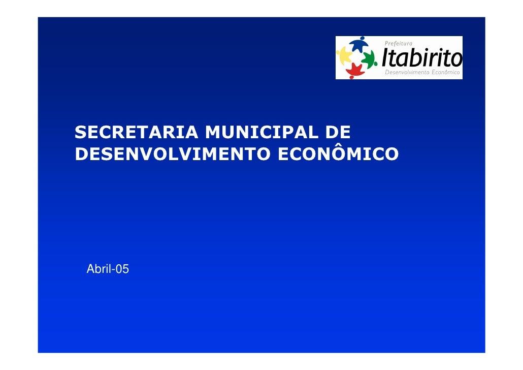 Apresentação Secretaria Desenvolvimento Econômico