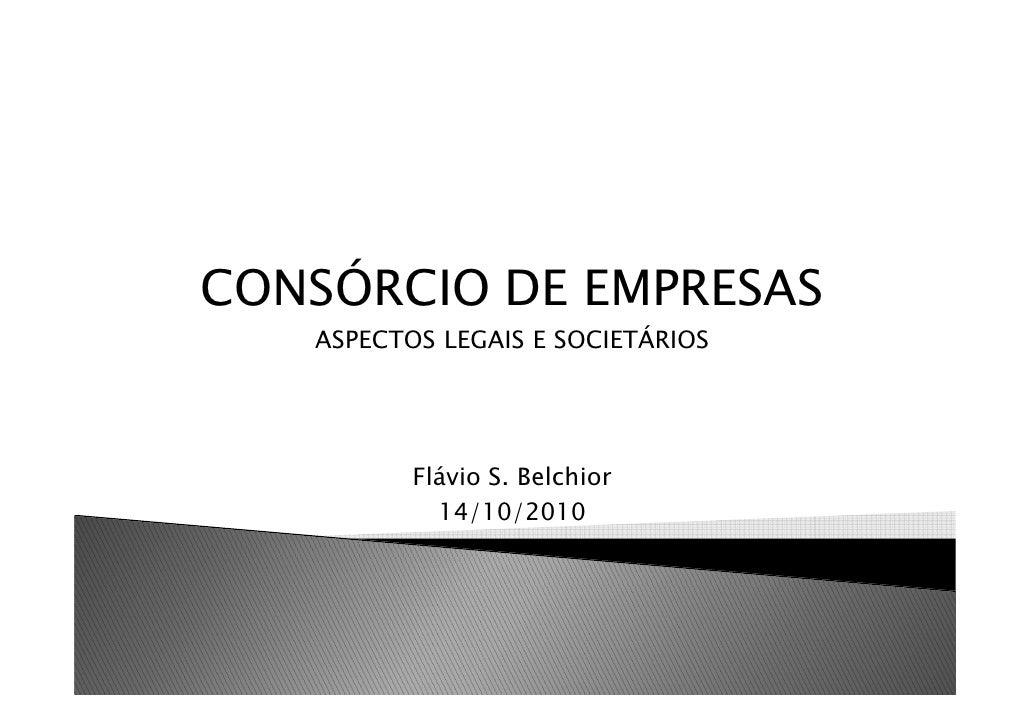 ApresentaçAo   Consorcios De Empresas
