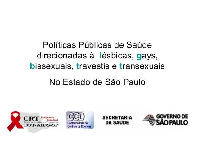 Políticas Públicas de Saúde direcionadas à lésbicas, gays, bissexuais, travestis e transexuais No Estado de São Paulo