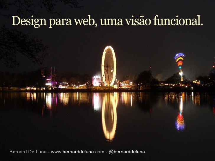 Design para web, uma visão funcional