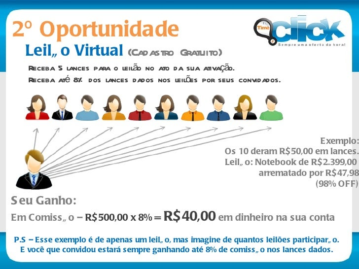 Pense bem... Negócio com milhões de pessoas Em franca expansão no Brasil Ganhos com suas indicações diretas E ainda...  Co...
