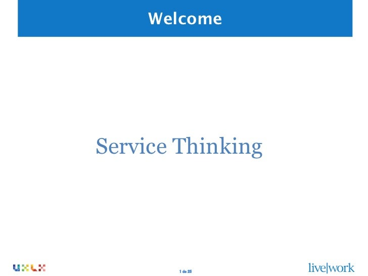 WelcomeService Thinking        1 de 25