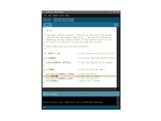 Arduino •  Estrutura Básica de uma Aplicação