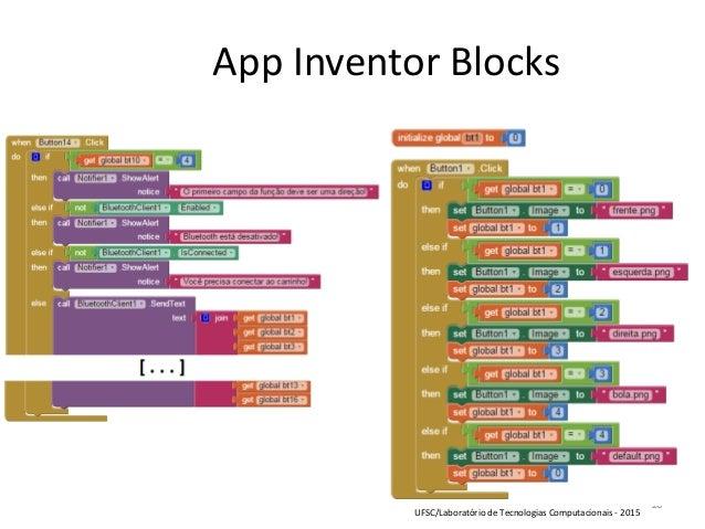 10 App Inventor Blocks UFSC/Laboratório de Tecnologias Computacionais - 2015