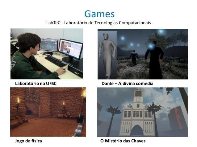 Games O Mistério das ChavesJogo da física Dante – A divina comédiaLaboratório na UFSC LabTeC - Laboratório de Tecnologias ...