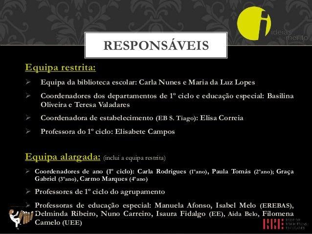 Coordenação e Supervisão:  Professora bibliotecária do AE Afonso de Paiva: Carla Nunes Acompanhamento:  Coordenador inte...