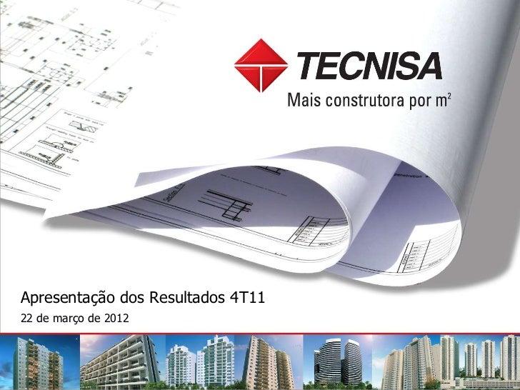 Apresentação dos Resultados 4T1122 de março de 2012