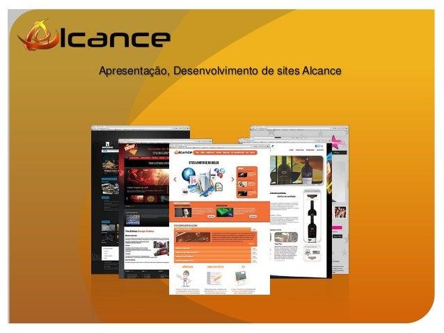 Apresentação, Desenvolvimento de sites Alcance
