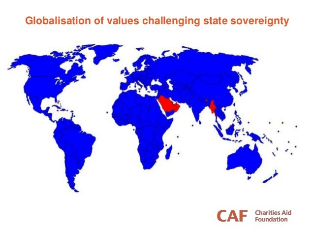 Globalisation of values challenging state sovereignty