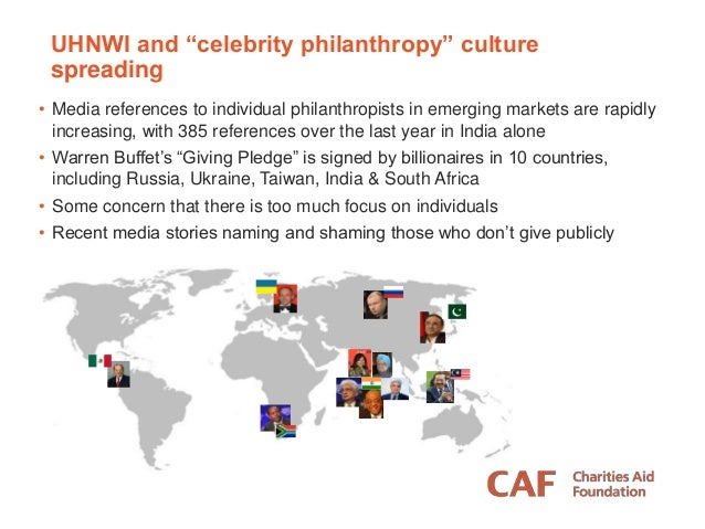 HNW philanthropy part of the solution • Globally, income inequality continues to increase • Attitudes to wealth are worsen...
