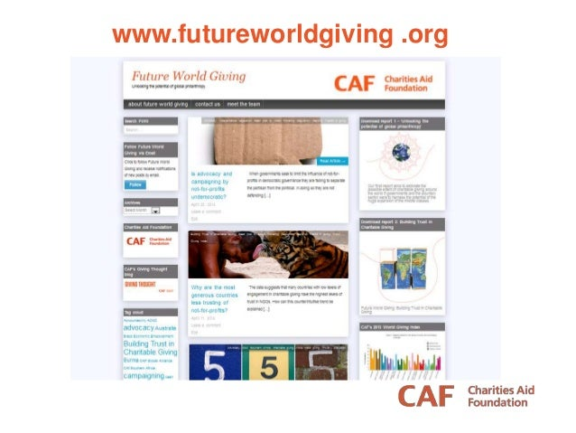 QUESTIONS? apickering@cafonline.org @A_L_Pickering www.futureworldgiving .org