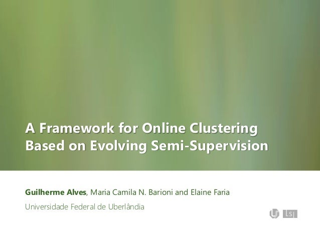 A Framework for Online Clustering Based on Evolving Semi-Supervision Guilherme Alves, Maria Camila N. Barioni and Elaine F...