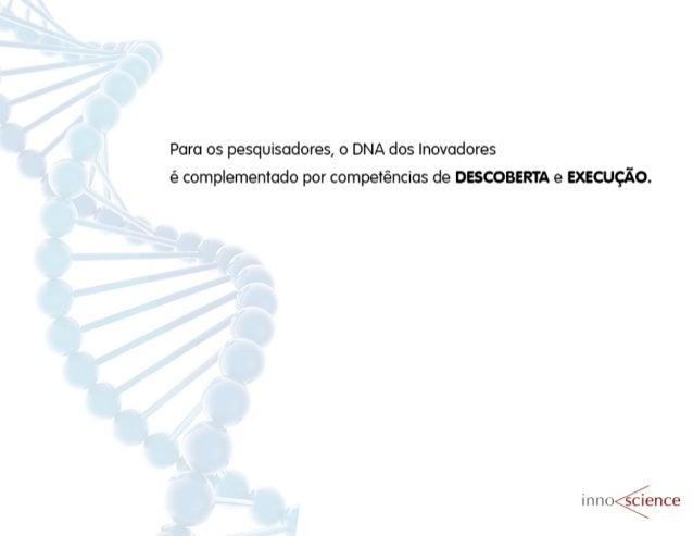 Para os pesquisadores,  o DNA dos inovadores é complementado por competências de DESCOBERTA e EXECUÇÃO.   in noãence