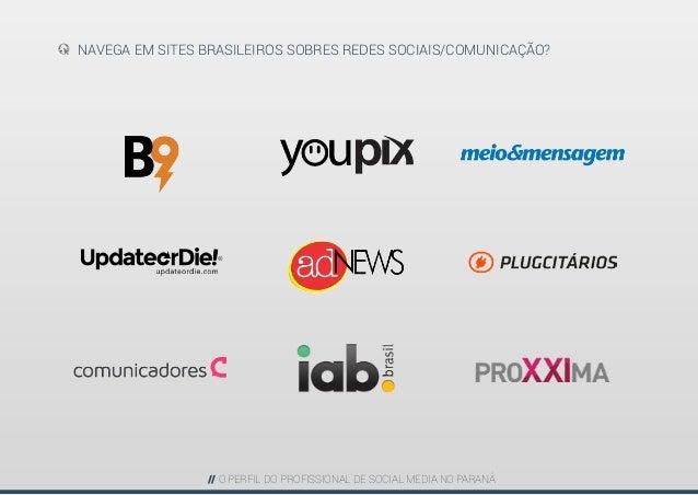 Perfil do Profissional de Social Media - PARANÁ Slide 19