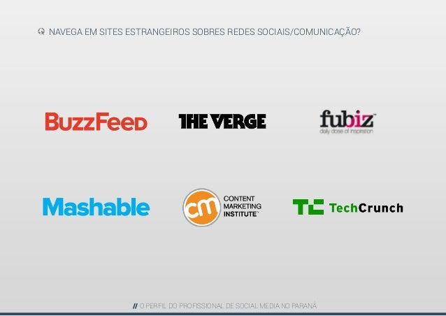 Perfil do Profissional de Social Media - PARANÁ Slide 20