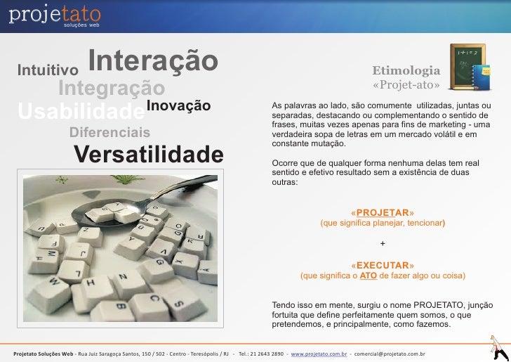 projetato          soluções web      Intuitivo                  Interação                                                 ...
