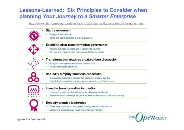 Enterprise Architecture Governance for an Enterprise Transformation J…