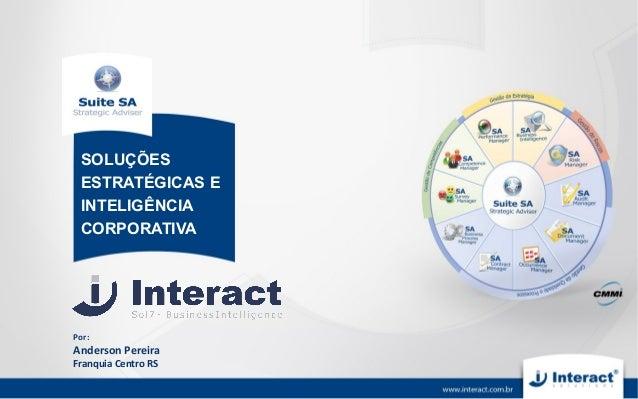 Por:Anderson PereiraFranquia Centro RSSOLUÇÕESESTRATÉGICAS EINTELIGÊNCIACORPORATIVA