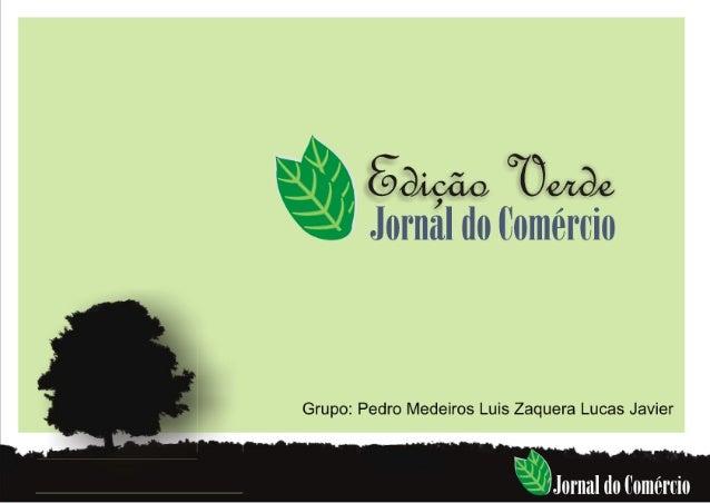 Apresentacao Jornal do Comercio Edição Carbon Free