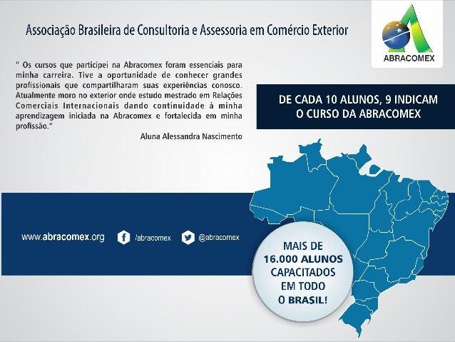 PARCERIA INTERNACIONAL CURSOS ABRACOMEX DUPLA CERTIFICAÇÃO BRASIL - EUA