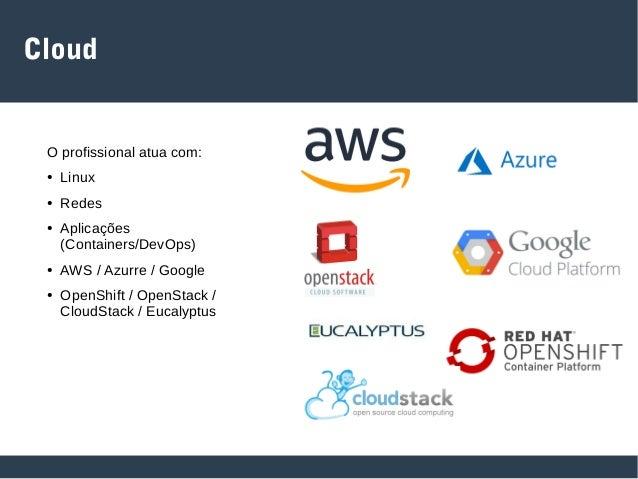 Red Team O profissional atua com: ● Linux e Windows ● Redes e Serviços ● Ferramentas de Invasão ● Desenvolvimento (Python,...