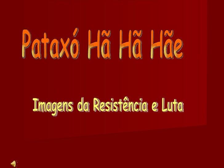 Pataxó Hã Hã Hãe Imagens da Resistência e Luta