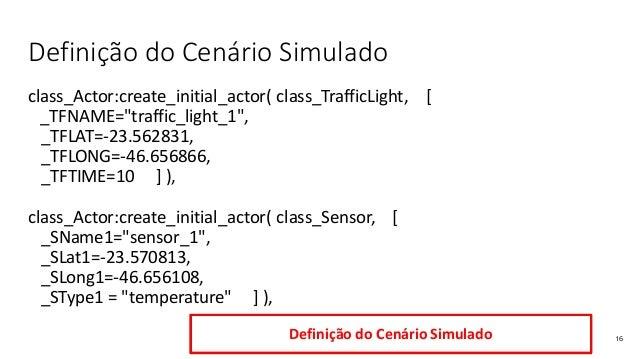 """Definição do Cenário Simulado class_Actor:create_initial_actor( class_TrafficLight, [ _TFNAME=""""traffic_light_1"""", _TFLAT=-2..."""