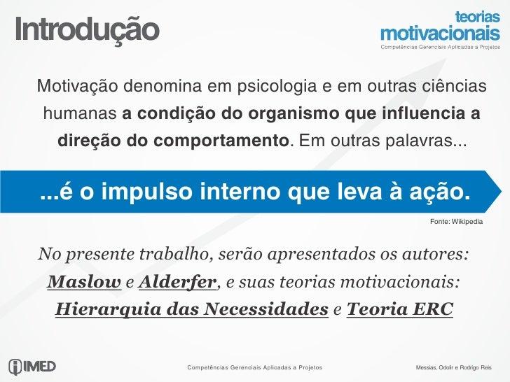 Teorias Motivacionais Maslow E Alderfer