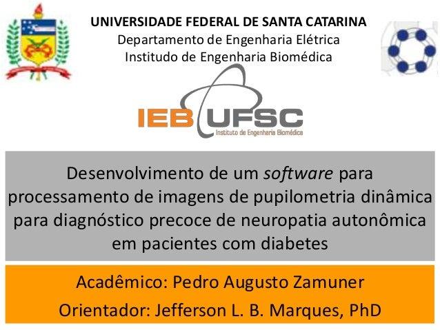UNIVERSIDADE FEDERAL DE SANTA CATARINA            Departamento de Engenharia Elétrica             Institudo de Engenharia ...