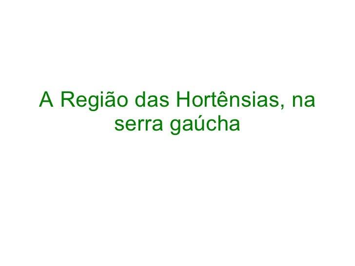 A Região das Hortênsias, na serra gaúcha
