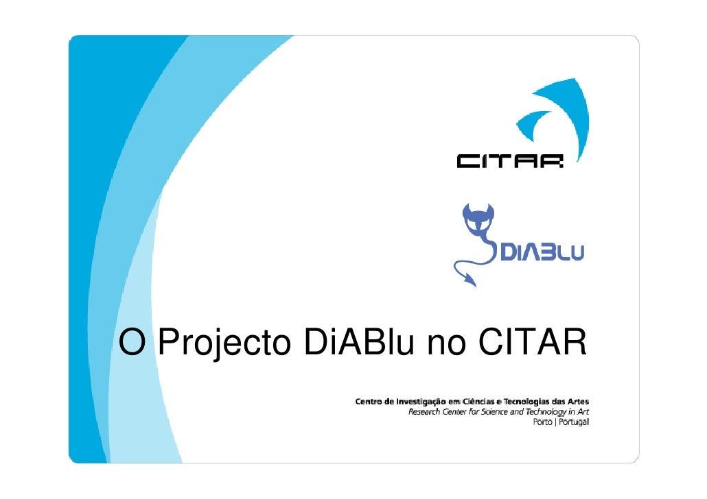 O Projecto DiABlu no CITAR