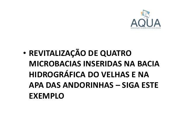 • REVITALIZAÇÃO DE QUATRO MICROBACIAS INSERIDAS NA BACIAMICROBACIAS INSERIDAS NA BACIA HIDROGRÁFICA DO VELHAS E NA APA DAS...