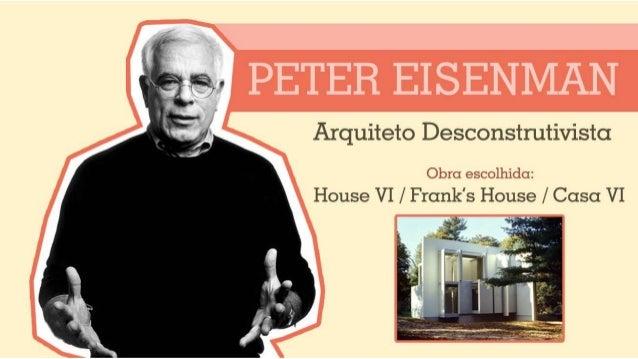 Seminário - Peter Eisenman