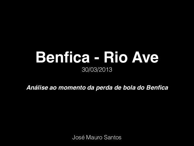Benfica - Rio Ave                 30/03/2013Análise ao momento da perda de bola do Benfica              José Mauro Santos