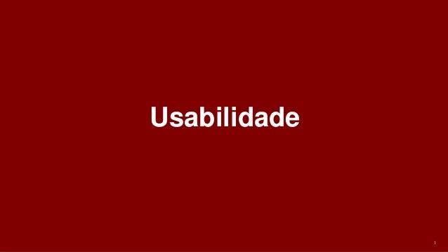 1 Usabilidade