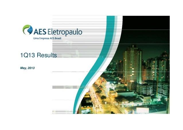 1Q13 Results May, 2013