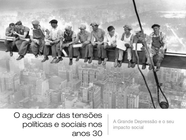 O agudizar das tensões                            A Grande Depressão e o seu  políticas e sociais nos   impacto social    ...