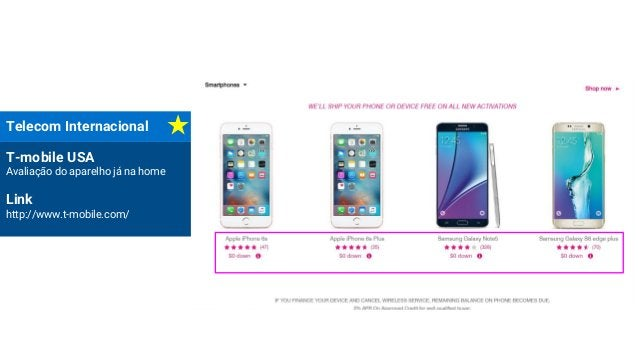 Telecom Internacional T-mobile USA Avaliação do aparelho já na home Link http://www.t-mobile.com/
