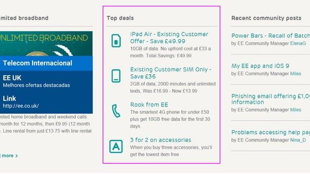 Telecom Internacional EE UK Melhores ofertas destacadas Link http://ee.co.uk/
