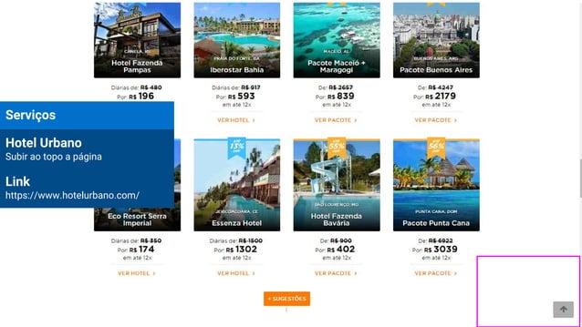 Serviços Hotel Urbano Subir ao topo a página Link https://www.hotelurbano.com/